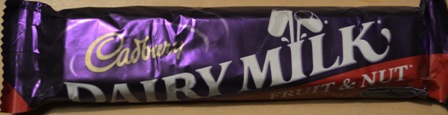 dairy milk fruit and nuts chocolate bar