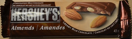 hershey's milk chocolate almonds chocolate bar