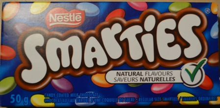 Smarties chocolate bar